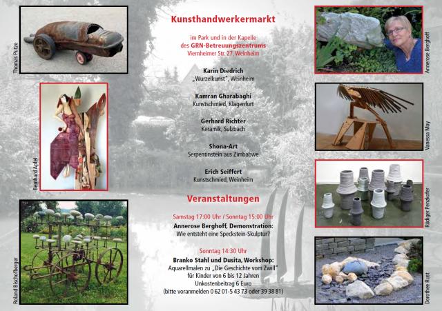 """Sommerausstellung """"Skulptur … und mehr"""""""