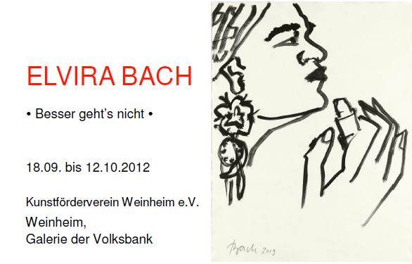 Elvira Bach - Einladung